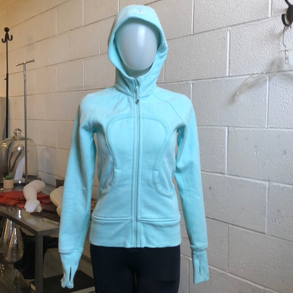 lululemon athletica Tops - Lululemon light blue scuba hoodie sz 4 60292